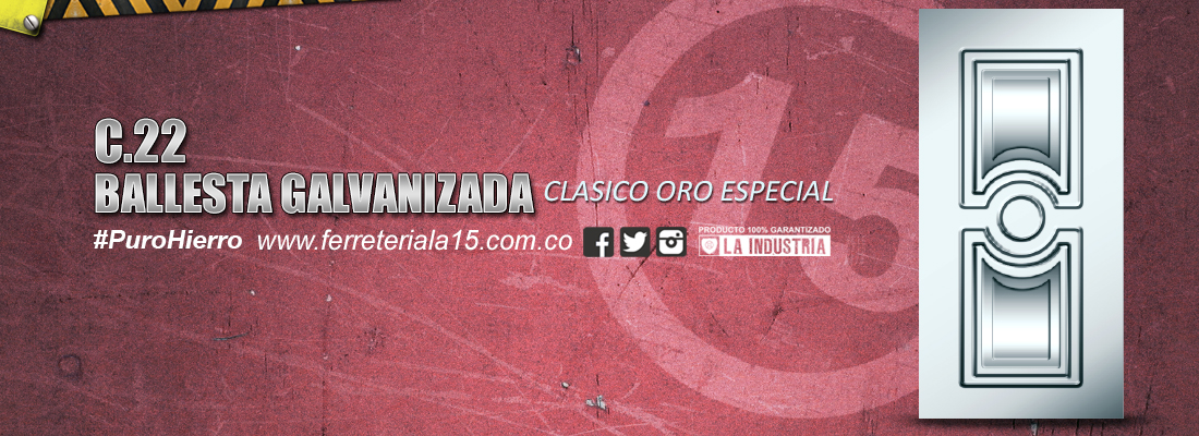 BALLESTA CLASICO ORO ESPECIAL GALVANIZADA F15 Slide