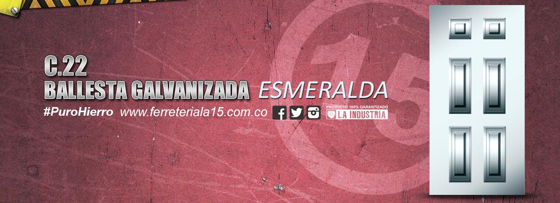 BALLESTA ESMERALDA GALVANIZADA F15 Slide
