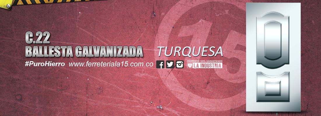 BALLESTA TURQUESA GALVANIZADA F15 Slide